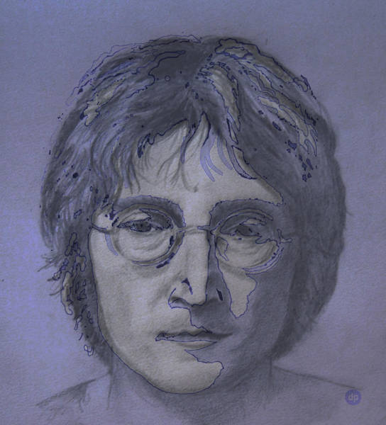 Wall Art - Digital Art - John Lennon Re-imagined by Digital Painting