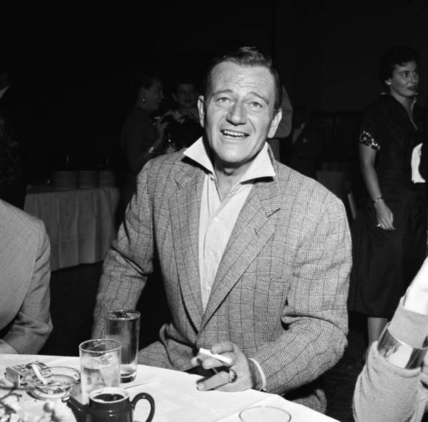 Party Photograph - John Wayne On The Town by Michael Ochs Archives