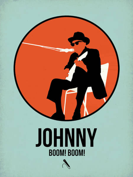 Hard Rock Wall Art - Digital Art - Johnny Poster 1 by Naxart Studio