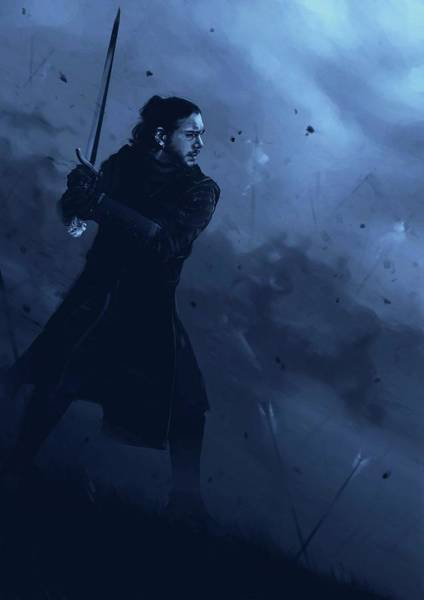Wall Art - Digital Art - jon snow Game Of Thrones  by Geek N Rock