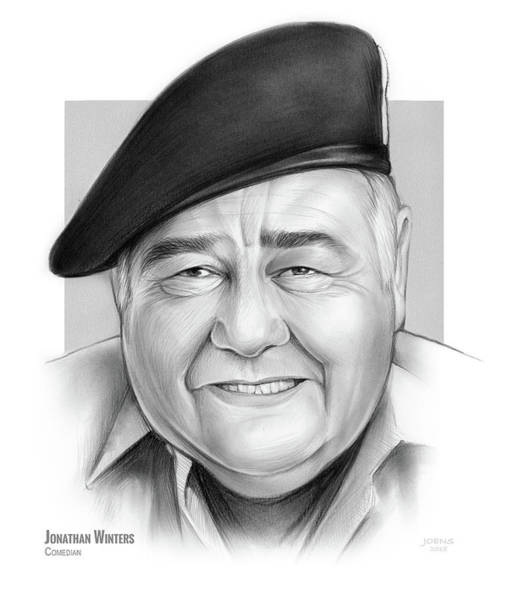 Authors Wall Art - Drawing - Jonathan Winters by Greg Joens