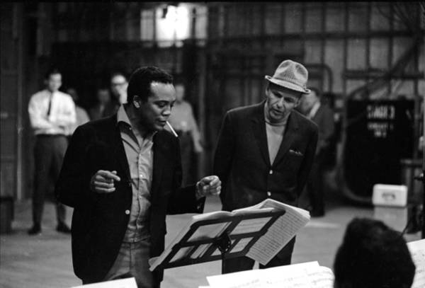 Photograph - Jones & Sinatra In Studio by John Dominis