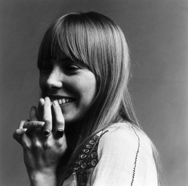Smiling Photograph - Joni Mitchell by Jack Robinson