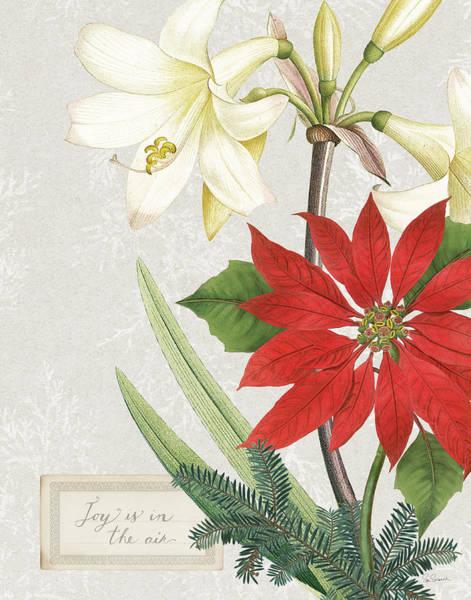 Amaryllis Painting - Joyful Tidings II by Sue Schlabach