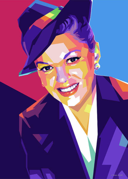 Wall Art - Digital Art - Judy Garland by Stars-on- Art