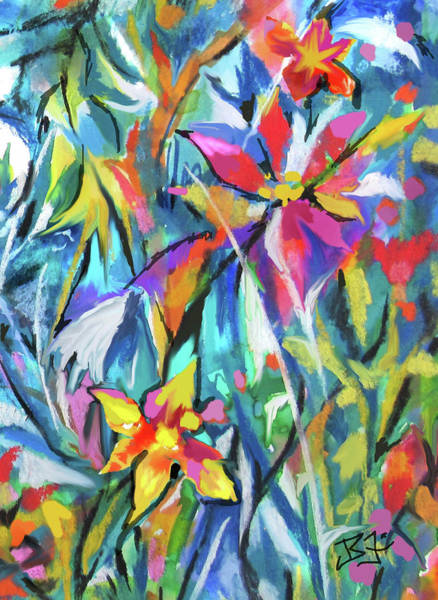 Digital Art - Jungle Garden by Jean Batzell Fitzgerald