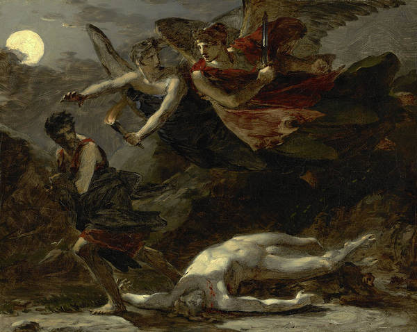 Murderer Painting - Justice And Divine Vengeance Pursuing Crime by Pierre-Paul Prud'hon