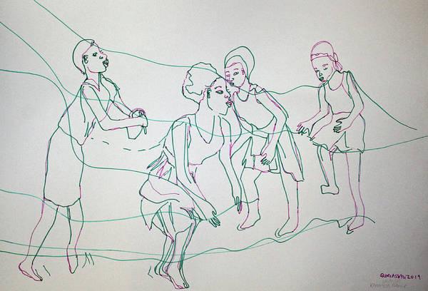 Painting - Karamajong Traditional Dance Uganda by Gloria Ssali