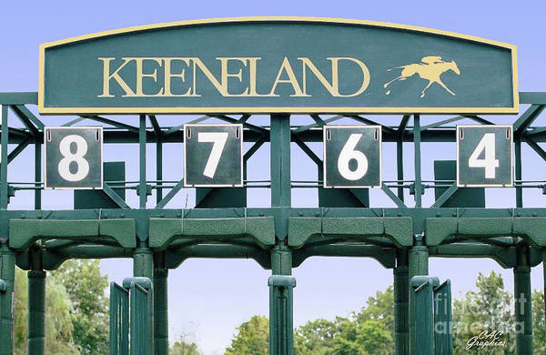 Photograph - Keeneland Starting Gate by CAC Graphics