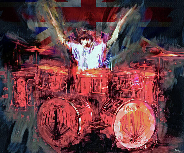 Wall Art - Mixed Media - Keith Moon by Mal Bray