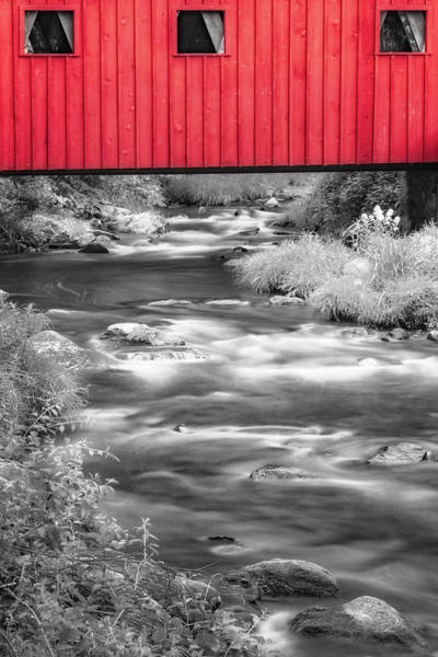 Photograph - Kent Falls Covered Bridge by Susan Candelario