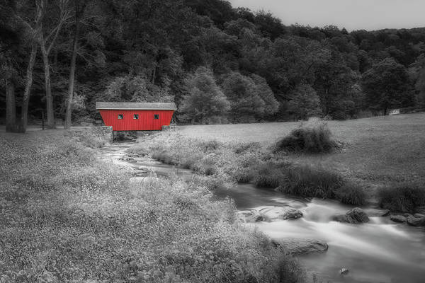Photograph - Kent Waterfalls Covered Bridge by Susan Candelario