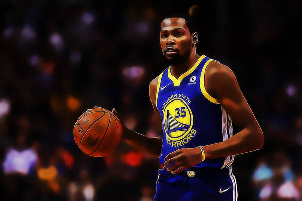 Mixed Media - Kevin Durant by Marvin Blaine
