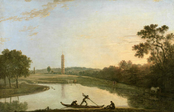 Painting - Kew Gardens - The Pagoda And Bridge by Richard Wilson