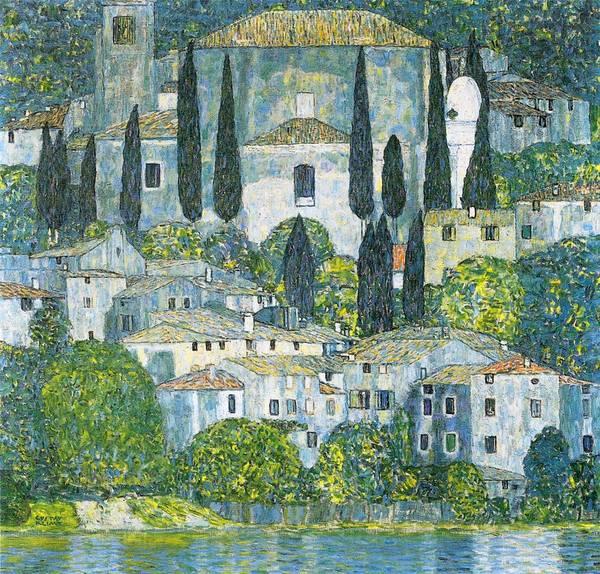 Neighborhood Painting - Kirche In Cassone by Gustav Klimt