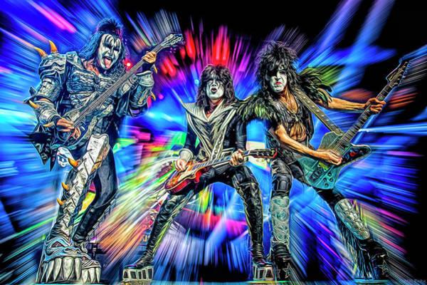 Hard Rock Mixed Media - Kiss  by Mal Bray
