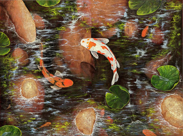 Painting - Koi Pond by Darice Machel McGuire