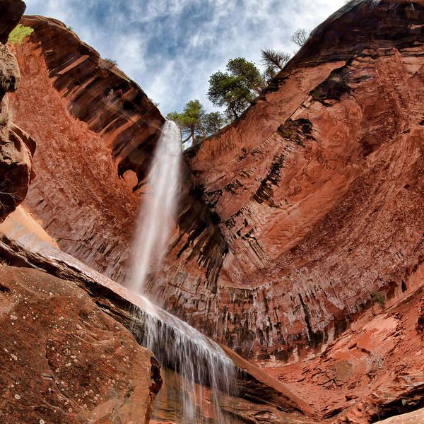 Photograph - Kolob Canyons Falling Waters by Leland D Howard