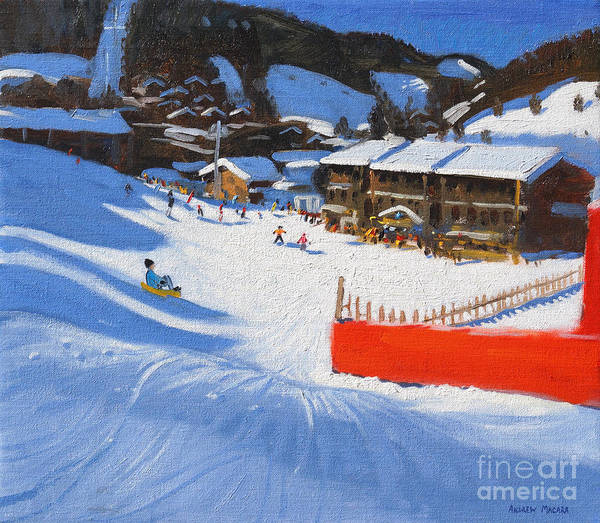 Wall Art - Painting - La Clusaz by Andrew Macara