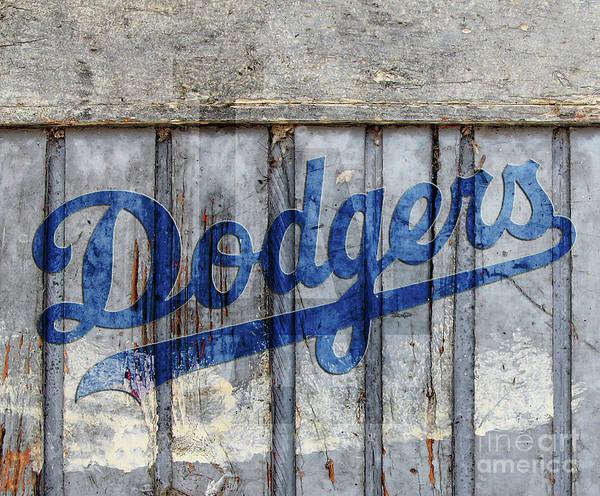 La Dodgers Rustic Art Print