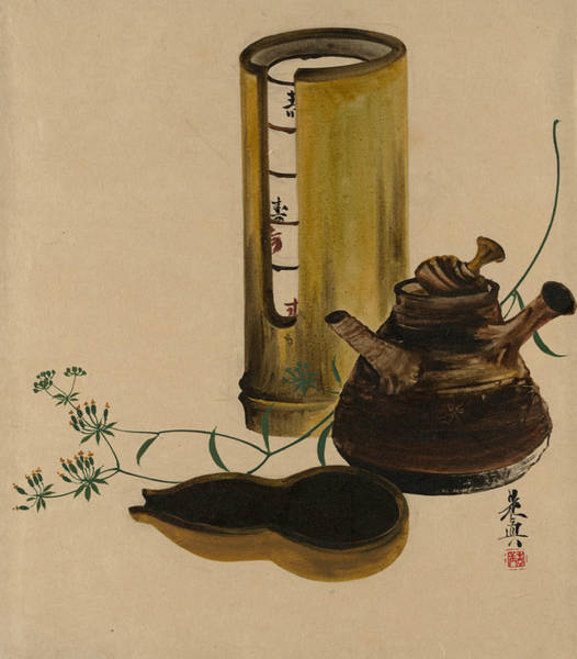 Painting - Lacquer Paintings Of Various Subjects - Sencha Tea Set by Shibata Zeshin