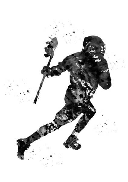 Wall Art - Digital Art - Lacrosse Player by Erzebet S