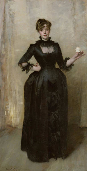 Wall Art - Painting - Lady With The Rose - Charlotte Louise Burckhardt by John Singer Sargent
