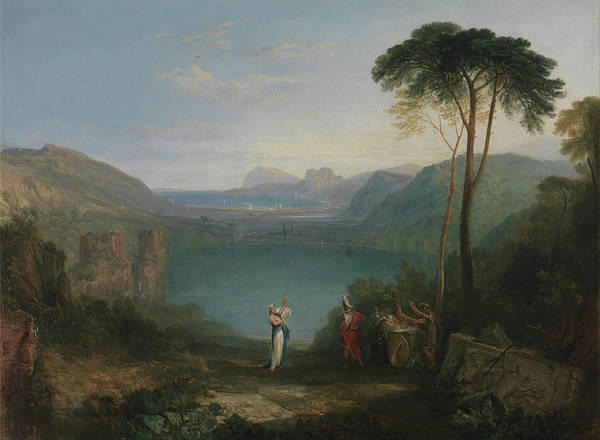 Painting - Lake Avernus Aeneas And The Cumaean Sybil by Joseph Mallord William Turner