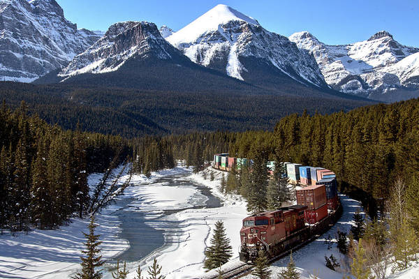 Canadian National Railway Photograph - Lake Louise Rocky Mountains  by Mark Duffy