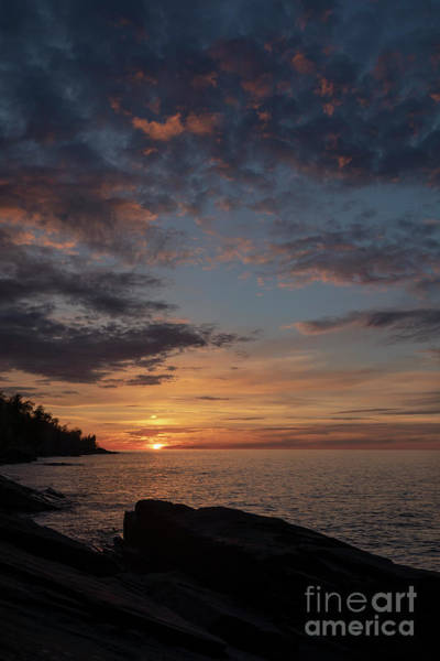 Photograph - Lake Superior Sunset by Jim West