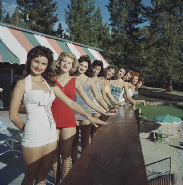 Smiling Photograph - Lake Tahoe by Slim Aarons