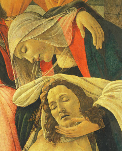 Wall Art - Painting - Lamentation Over The Dead Christ by Sandro Botticelli