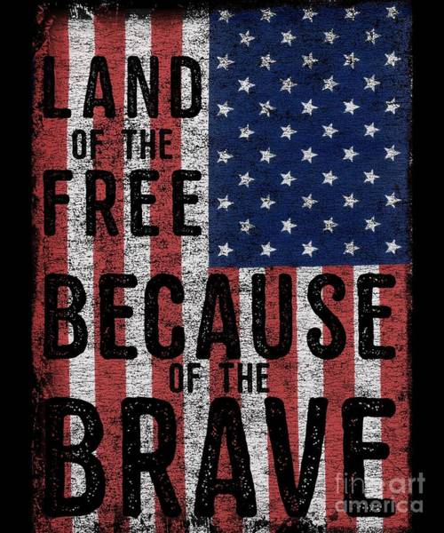 Digital Art - Land Of The Free Because Of The Brave by Flippin Sweet Gear