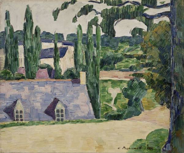 Wall Art - Painting - Landscape At Pont-aven by Emile Bernard