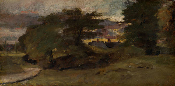 Painting - Landscape With Cottages by John Constable