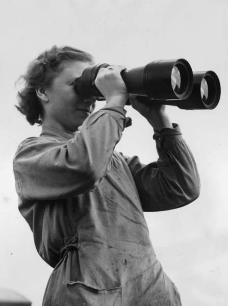Binoculars Photograph - Large Binoculars by Fox Photos