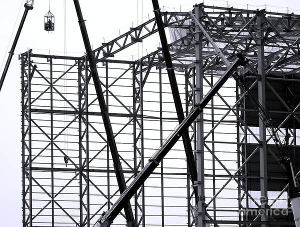 Photograph - Large Steel Structure Construction by Yali Shi