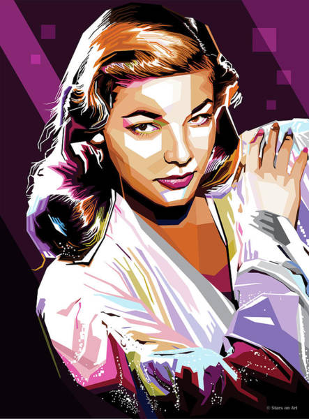 Wall Art - Digital Art - Lauren Bacall by Stars-on- Art