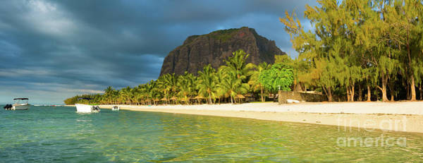 Wall Art - Photograph - Le Morne Brabant At Sunset. Panorama by MotHaiBaPhoto Prints