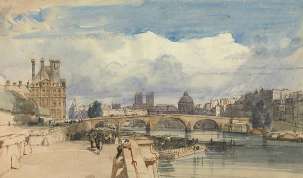 Drawing - Le Pont Royal, Paris by Thomas Shotter Boys