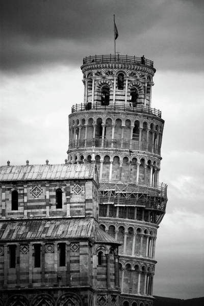 Wall Art - Photograph - Leaning Tower by © Bernard Tan. All Rights Reserved.
