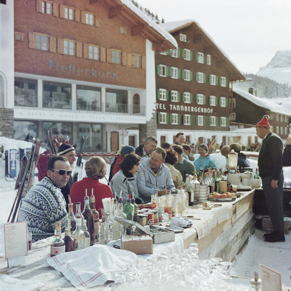 Bottle Photograph - Lech Ice Bar by Slim Aarons