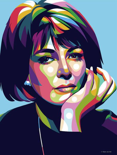 Pop Star Digital Art - Lee Grant by Stars-on- Art