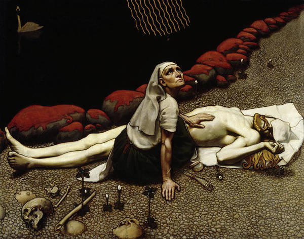 Wall Art - Painting - Lemminkainen's Mother by Akseli Gallen-Kallela