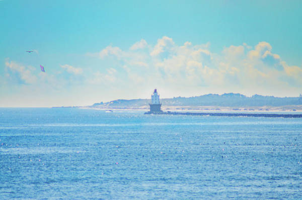 Photograph -  Lewes Delaware - Harbor Of Refuge Lighthouse by Bill Cannon