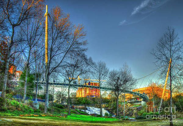Photograph - Liberty Bridge Reedy River Falls Park Greenville South Carolina Art by Reid Callaway