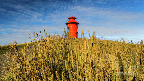 Photograph - Lighthouse In Stykkisholmur, Iceland by Lyl Dil Creations
