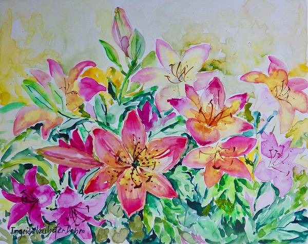 Painting - Lilies by Ingrid Dohm
