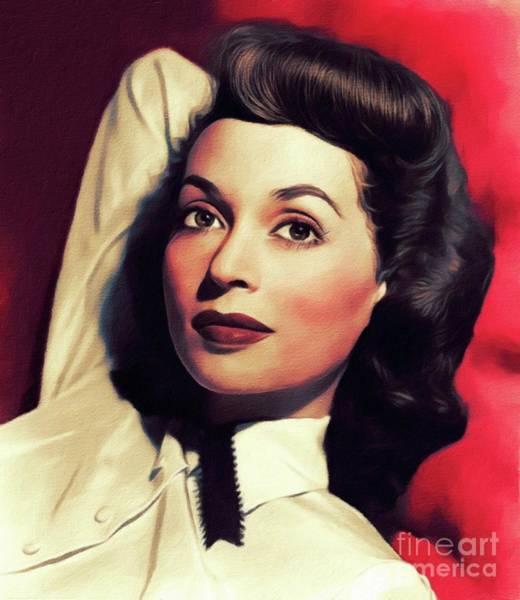 Wall Art - Painting - Lilli Palmer, Vintage Actress by John Springfield