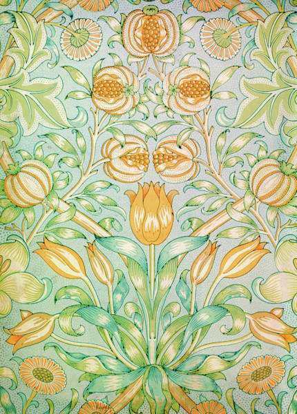 Wall Art - Painting - Lily And Pomegranate - Digital Remastered Edition by William Morris